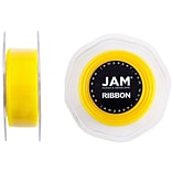 JAM Paper® Sheer Organza Ribbon, 7/8 Inch Wide x 25 Yards, Yellow, Sold Individually (807SHye25)
