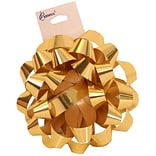 JAM Paper® Gift Bows, 3.5 Diameter, Gold, 12/pack (283613288)
