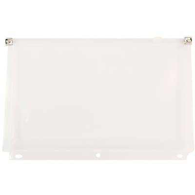 JAM Paper® Plastic 3 Hole Punch Binder Envelopes, Zip Closure, 6 x 9.5, Clear, 24/Pack (235731329b)