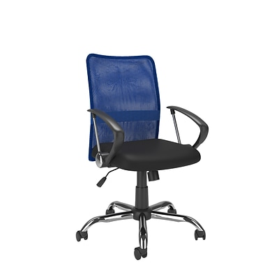CorLiving WHL-718-C Workspace Contoured Mesh Back Office Chair, Blue