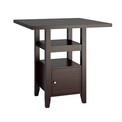 CorLiving Bistro 36 Counter Height Cappuccino Dining Table with Cabinet (DPP-690-T)