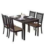 CorLiving Atwood 5pc Dining Set, with Beige Microfiber Chairs (DRG-695-Z2)