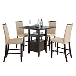 CorLiving Bistro 5pc 36 Counter Height Cappuccino Dining Set - Desert Sand (DPP-690-Z1)