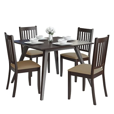 CorLiving Atwood 5pc Dining Set with Microfiber Seats (DRG-895-Z3)