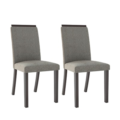CorLiving Bistro Fabric Dining Chairs, Pewter Grey - set of 2 (DPP-191-C)