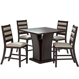 CorLiving Bistro 5pc 36 Counter Height Cappuccino Dining Set - Platinum Sage (DWP-390-Z3)