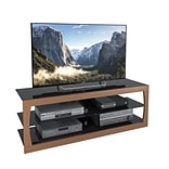 CorLiving Santa Lana TV Stand for up to 65 TVs, Faux Teak (TSL-223-T)
