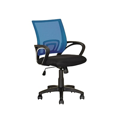 CorLiving LOF-324-O Workspace Mesh Back Office Chair, Process Blue