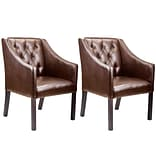 CorLiving Antonio Bonded Leather Club Chair, Brown - set of 2 (LAD-628-C)
