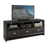 CorLiving Kansas TV Bench for up to 60 TVs, Espresso Finish (TEK-582-B)