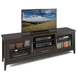 CorLiving Jackson Extra Wide TV Bench for up to 80 TVs, Espresso Finish (TJK-684-B)