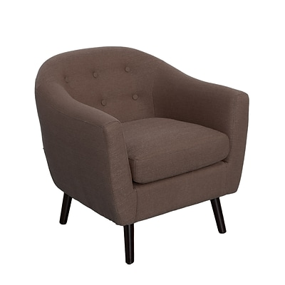 CorLiving Oliver Fabric Barrel Chair, Brown (LZY-792-C)