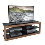 CorLiving Santa Lana TV Stand for up to 70 TVs, Faux Teak (TSL-323-T)