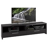 CorLiving Fernbrook TV Stand for up to 85 TVs, Black Faux Wood Grain Finish (TFB-307-B)