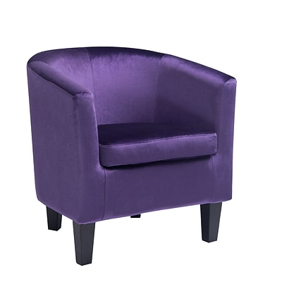 CorLiving Antonio Velvet Tub Chair, Purple (LAD-758-C)