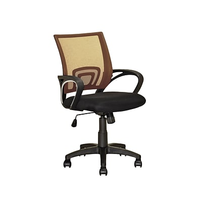 CorLiving LOF-311-O Workspace Mesh Back Office Chair, Light Brown