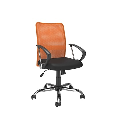 CorLiving WHL-725-C Workspace Contoured Mesh Back Office Chair, Orange