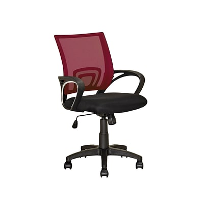 CorLiving LOF-323-O Workspace Mesh Back Office Chair, Maroon
