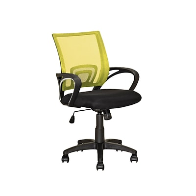 CorLiving LOF-319-O Workspace Mesh Back Office Chair, Yellow