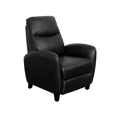CorLiving Ava Bonded Leather Recliner, Black (LZY-501-R)