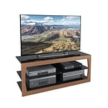 CorLiving Santa Lana TV Stand for up to 60 TVs, Faux Teak (TSL-123-T)