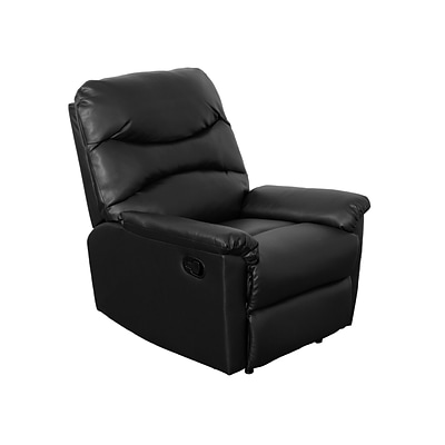 CorLiving Luke Bonded Leather Recliner, Black (LZY-409-R)