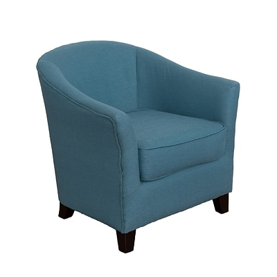 CorLiving Shirley Fabric Contemporary Tub Chair, Blue (LZY-728-C)