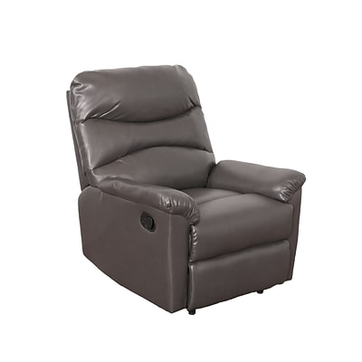 CorLiving Luke Bonded Leather Recliner, Brownish-Grey (LZY-429-R)