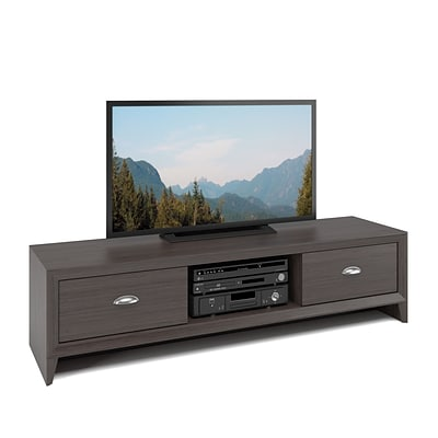 CorLiving Lakewood TV Bench for up to 60 TVs, Modern Wenge Finish (TLK-871-B)