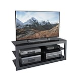CorLiving Santa Lana TV Stand for up to 60 TVs, Black Matte (TSL-103-T)
