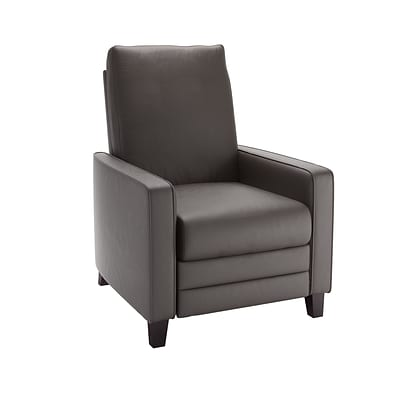 CorLiving Kelsey Bonded Leather Recliner, Brownish-Grey (LZY-423-R)