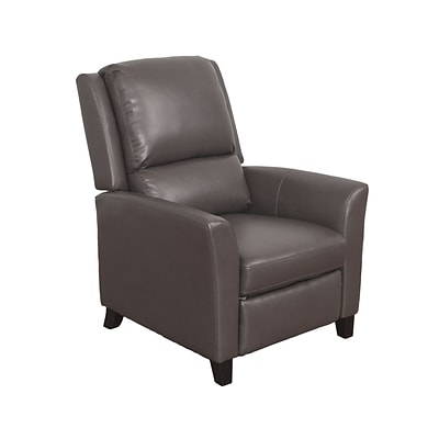 CorLiving Kate Bonded Leather Recliner, Brownish-Grey (LZY-523-R)