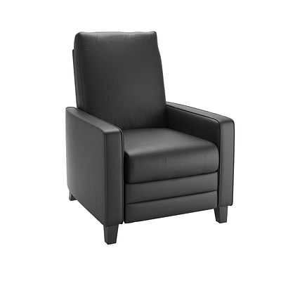CorLiving Kelsey Bonded Leather Recliner, Black (LZY-403-R)