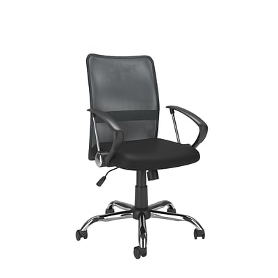 CorLiving WHL-726-C Workspace Contoured Mesh Back Office Chair, Dark Grey