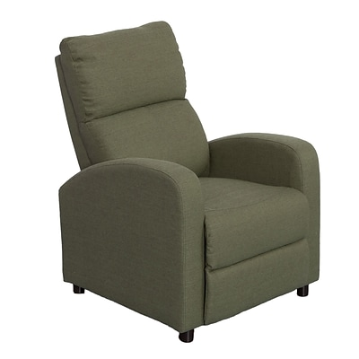 CorLiving Moor Linen Fabric Recliner, Greenish-Grey (LZY-538-R)