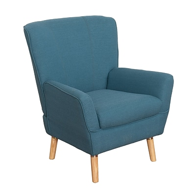 CorLiving Demi Fabric Club Chair, Blue (LZY-726-C)