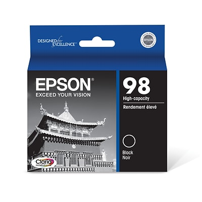 Epson 98 Black Ink Cartridge, High Yield (T098120)