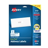 Avery Easy Peel Inkjet Address Labels, 1 x 2 5/8, White, 30/Sheet, 25 Sheets/Pack (8160)