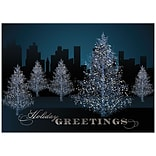 JAM Paper® Christmas Cards Set, City Treeline, 25/Pack (526M1116WB)