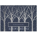 JAM Paper® Christmas Holiday Card Set, Tree Line with Die-Cut Nameplate, 25/pack (526M1043WB)