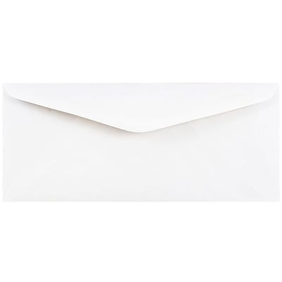 JAM Paper® #11 Business Commercial Envelopes, 4 1/2 x 10 3/8, White, 250/box (45179c)