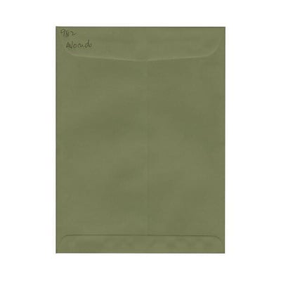 JAM Paper® 9 x 12 Open End Catalog Envelopes, Olive Green, 25/pack (31287534)