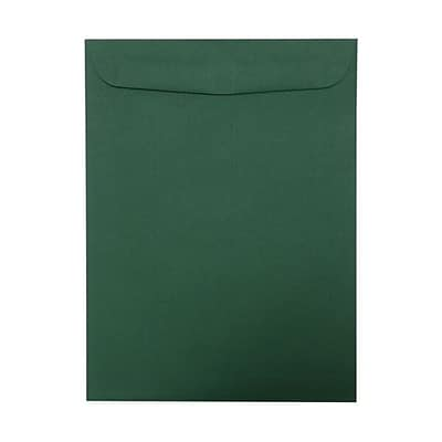 JAM Paper® 9 x 12 Open End Catalog Envelopes, Dark Green, 100/pack (31287529f)