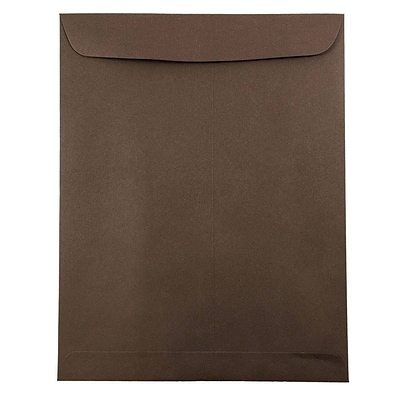 JAM Paper® 9 x 12 Open End Catalog Envelopes, Chocolate Brown, 50/pack (212816044i)