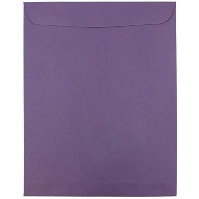 JAM Paper® 10 x 13 Open End Catalog Envelopes, Dark Purple, 100/pack (1287032f)