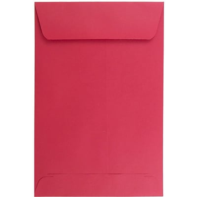 JAM Paper® 6 x 9 Open End Catalog Envelopes, Red, 50/Pack (v0128139i)