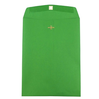 JAM Paper® 9 x 12 Open End Catalog Envelopes with Clasp Closure, Green Recycled, 25/pack (92912a)