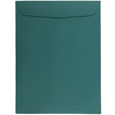 JAM Paper® 9 x 12 Open End Catalog Envelopes, Teal, 50/pack (31287536i)