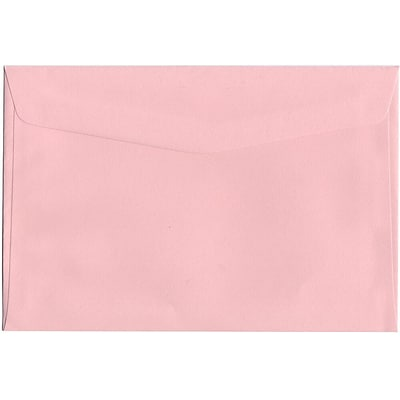 JAM Paper® 6 x 9 Booklet Envelopes, Baby Pink, 50/Pack (23512969i)