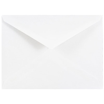 JAM Paper® 4bar A1 Envelopes, 3 5/8 x 5 1/8, White V-Flap, 500/box (4023204c)